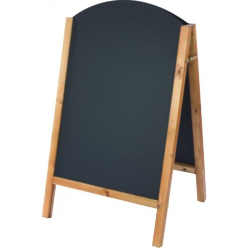 Small reversible curved top chalkboard