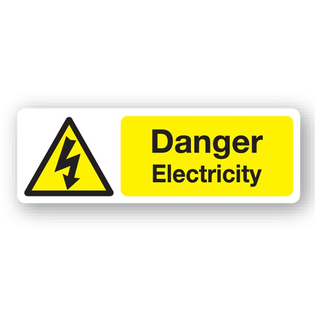 Danger Electricity Sign 300x100mm