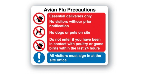 P40bp Avian Flu Precautions Sign