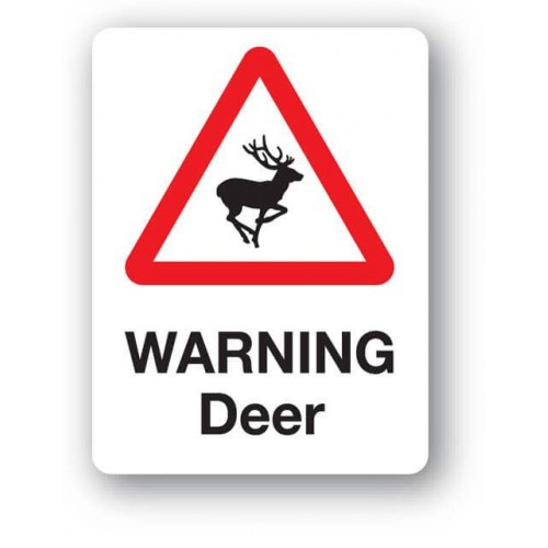 Warning Deer Sign