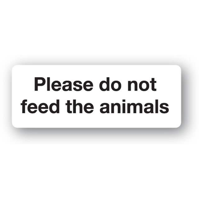 G31up Please Do Not Feed The Animals Sign