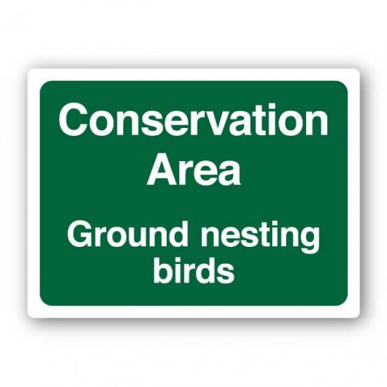 Conservation Area Ground Nesting Birds Sign