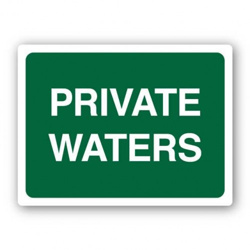 Private Waters Sign