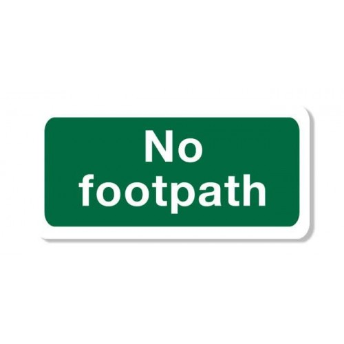 No Footpath Sign