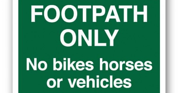 Horses Only Large All Weather Sign SignsUp No Motor Vehicles