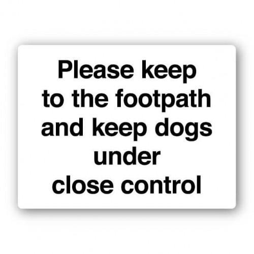 Please Keep To The Footpath