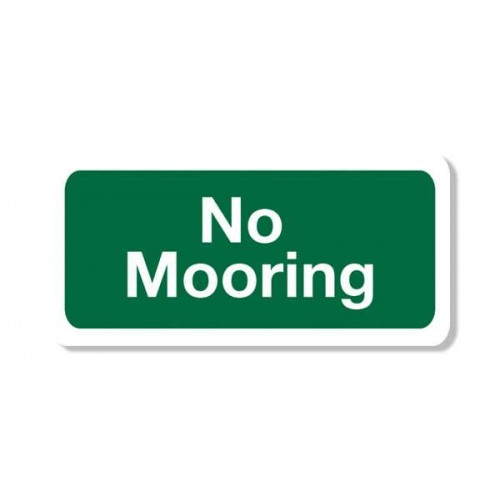 No Mooring Sign