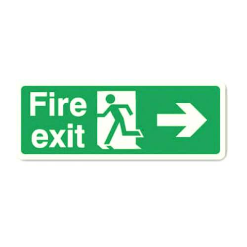 Fire Exit Sign - Arrow Right (Photoluminescent)