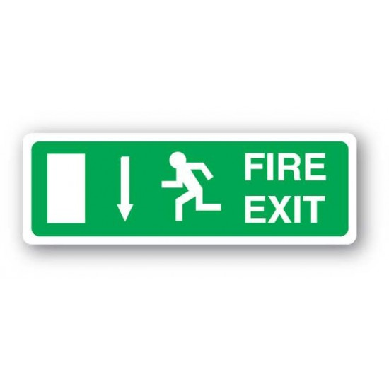 Fire Exit Sign (Arrow Down)