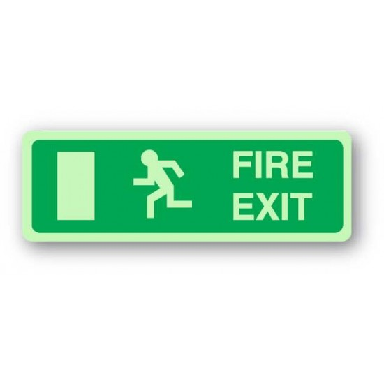 Fire Exit Sign - No Arrow (Photoluminescent)