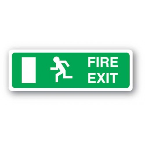 Fire Exit Sign - No Arrow (Vinyl)