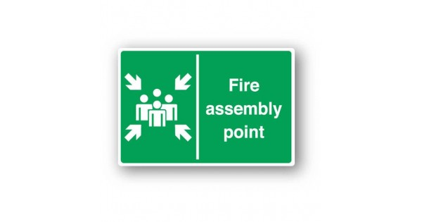 fire assembly point sign farm signs. Black Bedroom Furniture Sets. Home Design Ideas