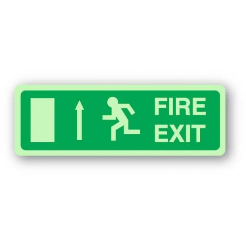 Fire Exit Sign - Arrow Up (Photoluminescent)