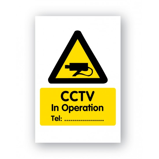 CCTV in Operation. Tel-No-Sign