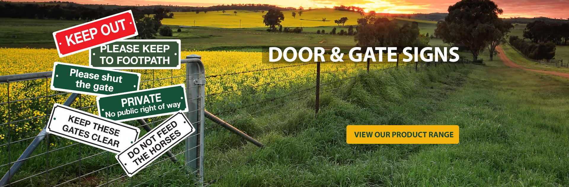 Door & Gate Signs