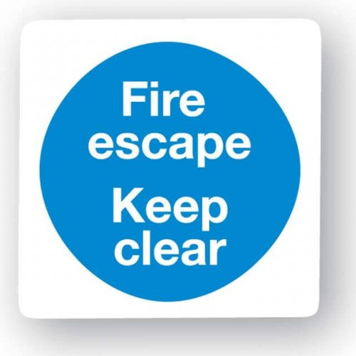 Fire Escape - Keep Clear Sign