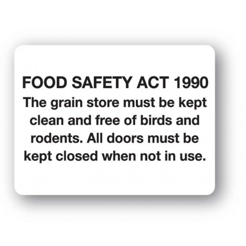 Food Safety Act 1990 Sign