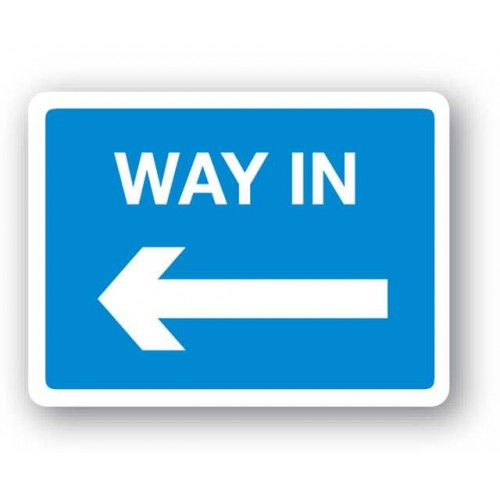 Way In Left Arrow Sign