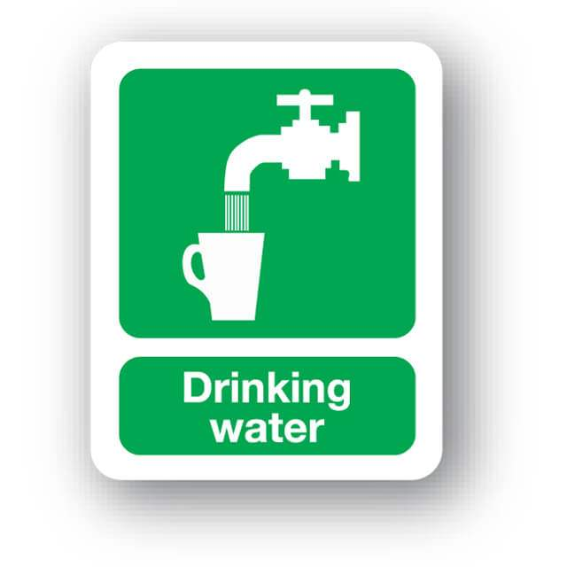 Drinking water sign, 100x100mm