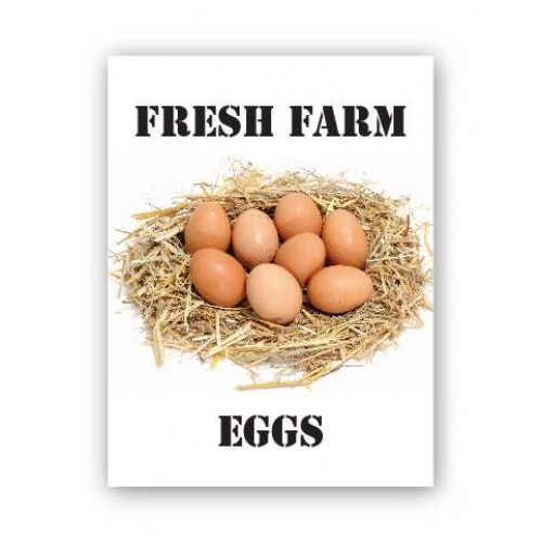 Fresh Farm Eggs Produce Board
