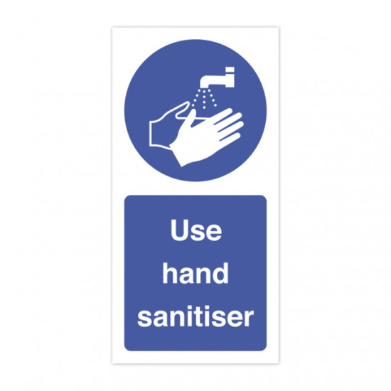 Use hand sanitiser label. 100mm x 50mm