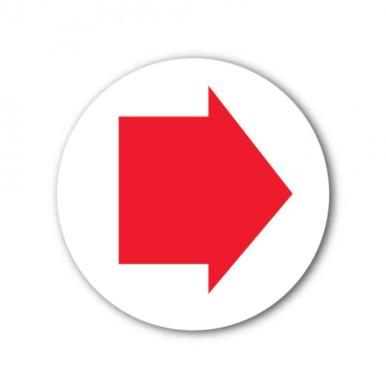 Red Arrow Waymarker Disc (Byway Open To All Traffic)