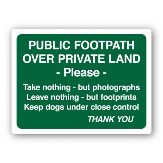 Public Footpath Over Private Land