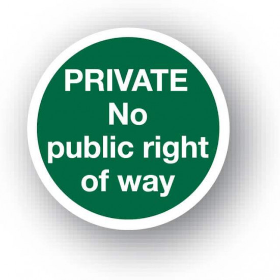 Private No Right Of Way Waymarker Disc