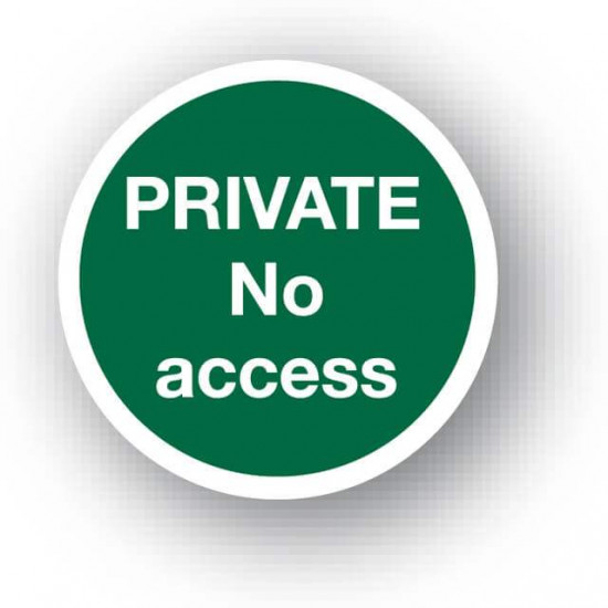 Private No Access Waymarker Disc