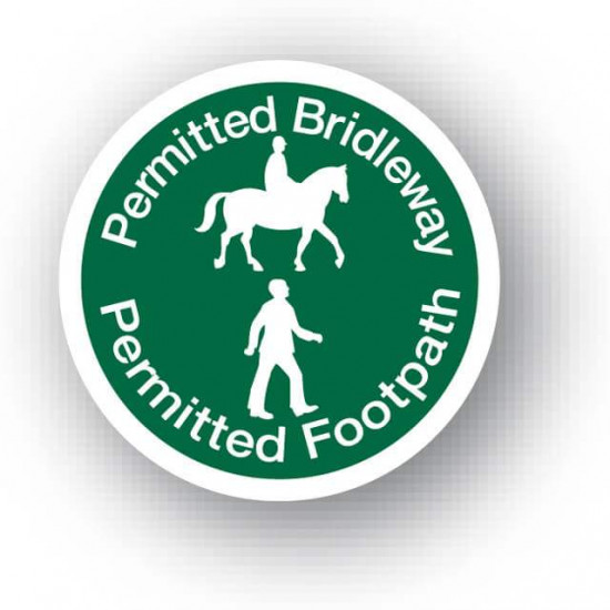 Permitted Bridleway Permitted Footpath Waymarker Disc