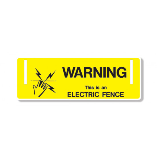 Electric Fence Sign (Pack Of 10)