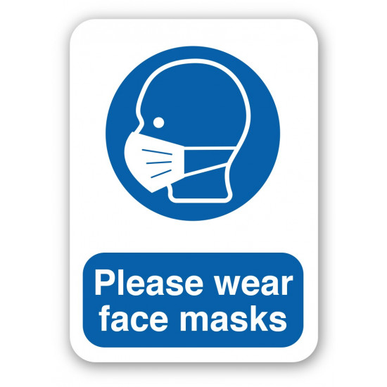 Please wear face masks sign