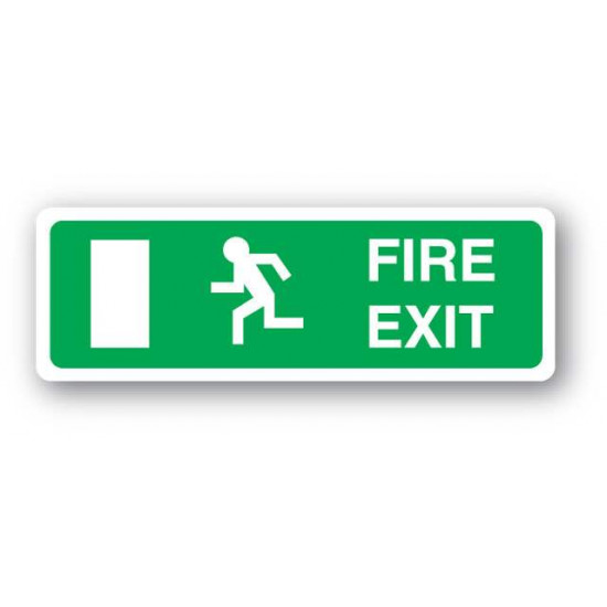 Fire Exit Sign - No Arrow