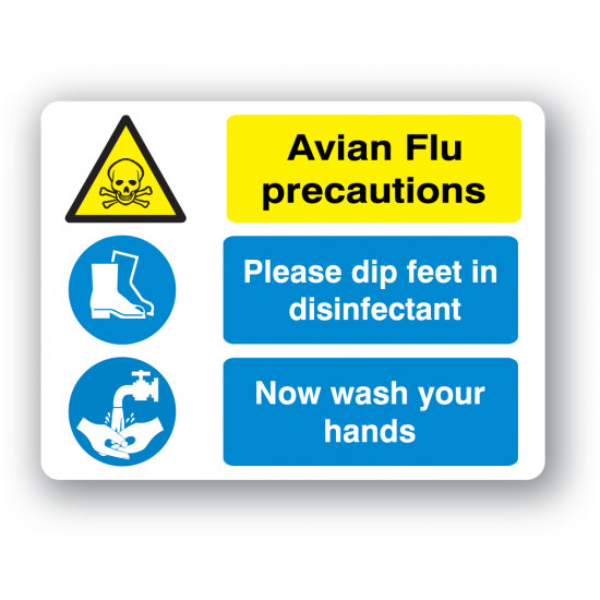 W30BP Avian Flu Precautions sign