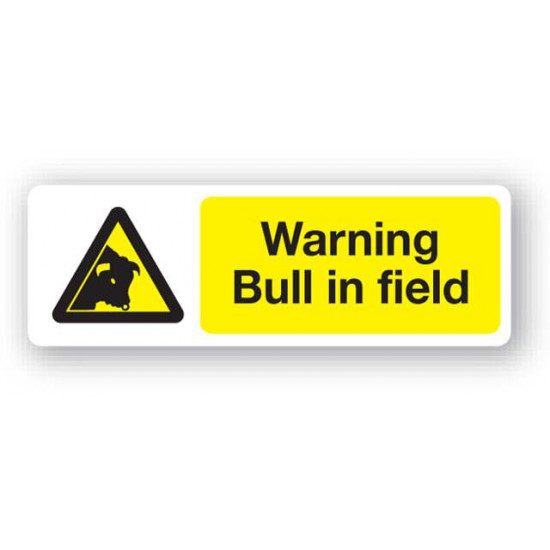 Warning - Bull In Field Sign