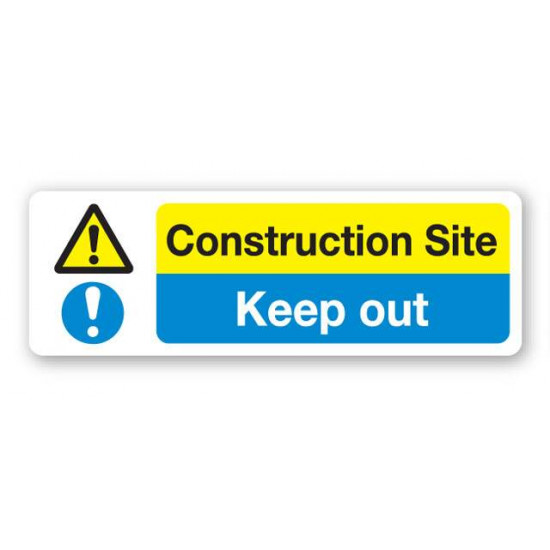 Construction Site - Keep Out Sign