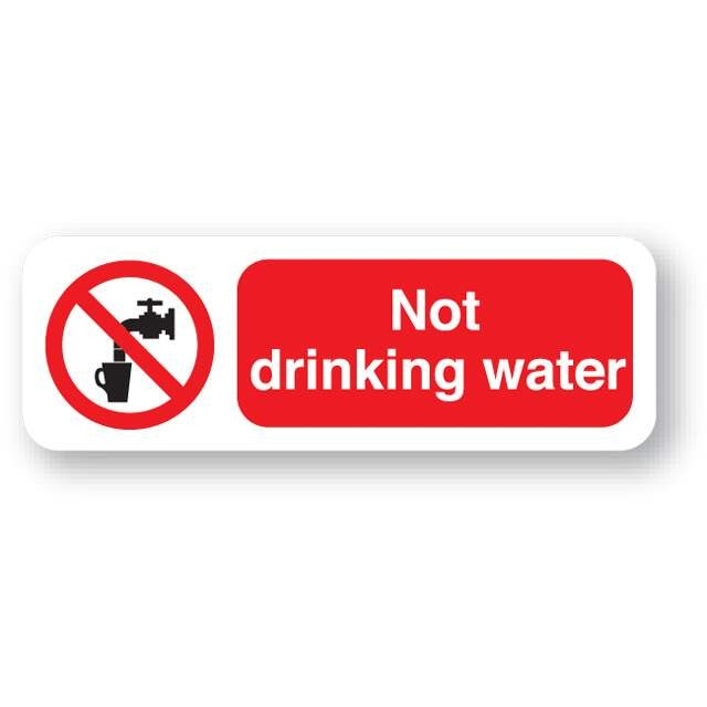 P21fp Not Drinking Water Sign Farm Sign
