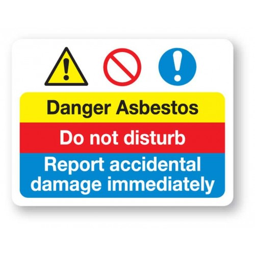 Danger - Asbestos Sign