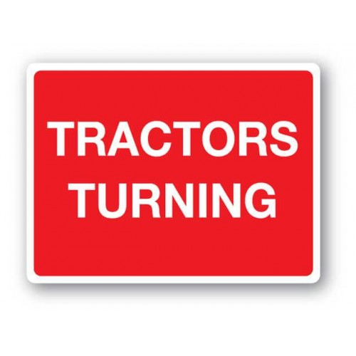 Tractors Turning Sign