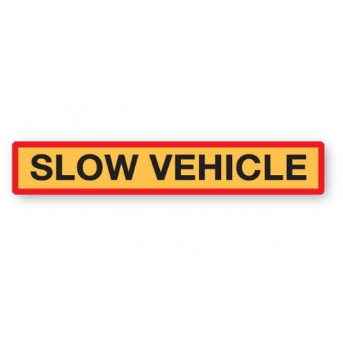 Slow Vehicle Marker Board