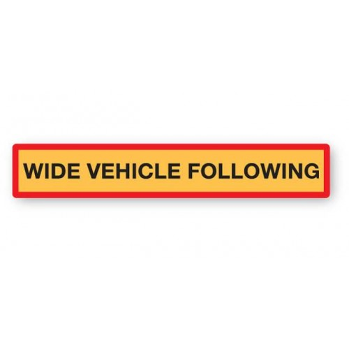 Wide Vehicle Following Marker Board