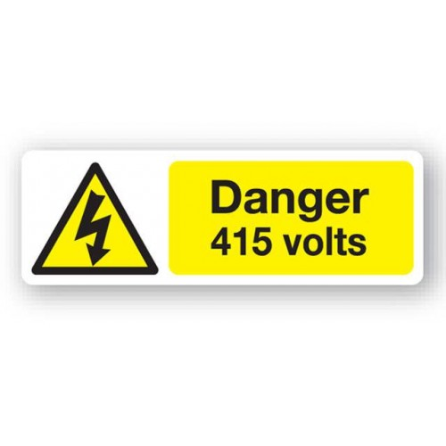 Danger - 415 Volts Sign