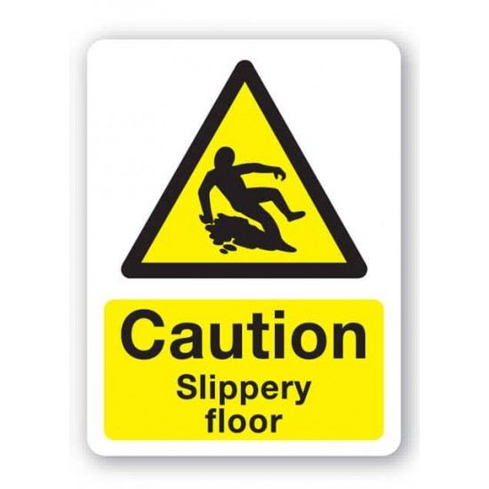 Caution - Slippery Floor Sign