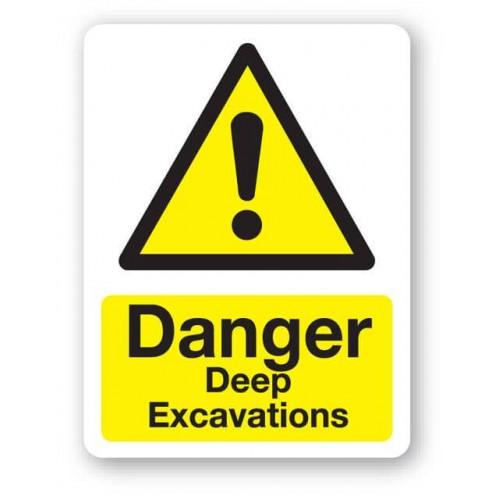 Danger - Deep Excavations Sign