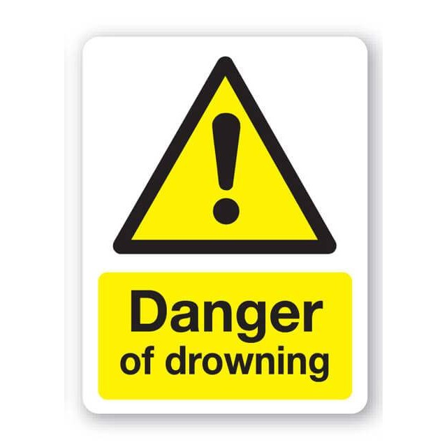 Danger Of Drowning Sign 300x400mm