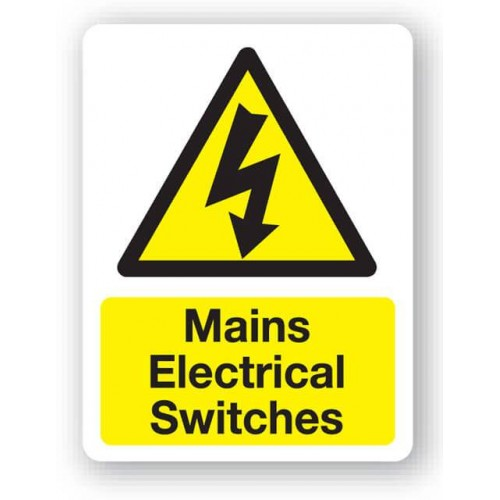 Mains Electrical Switches Sign