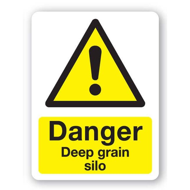 Danger Deep Grain Silo Sign 300x400mm