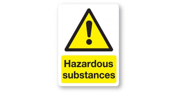 W14bp Hazardous Substances Sign