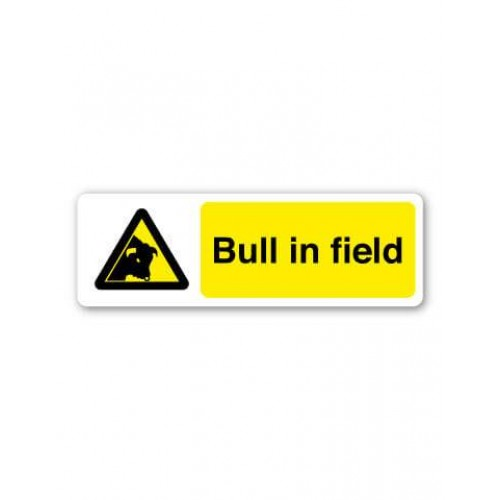 Bull In Field Sign