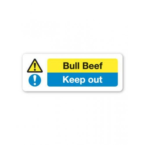 Bull Beef Sign